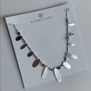 Kendra Scott Airella Crystal & Silver Necklace NEW